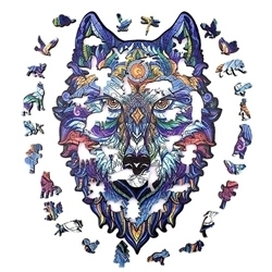WOODEN PUZZLE MYSTERY WOLF A4