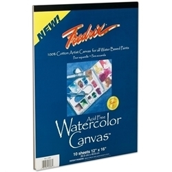 Picture of FREDRIX WATER COLOUR CANVAS PAD 18X24 INCH